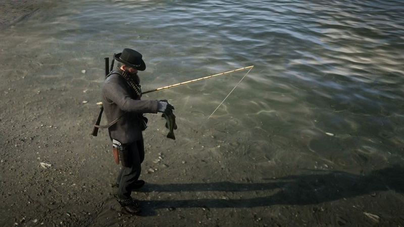red dead redemption 2 fishing pole