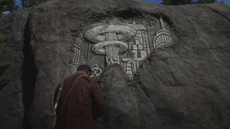 rock carving location red dead redemption 2