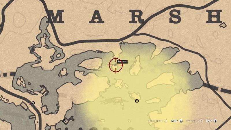 Red Dead Online Bluewater Marsh Treasure Location