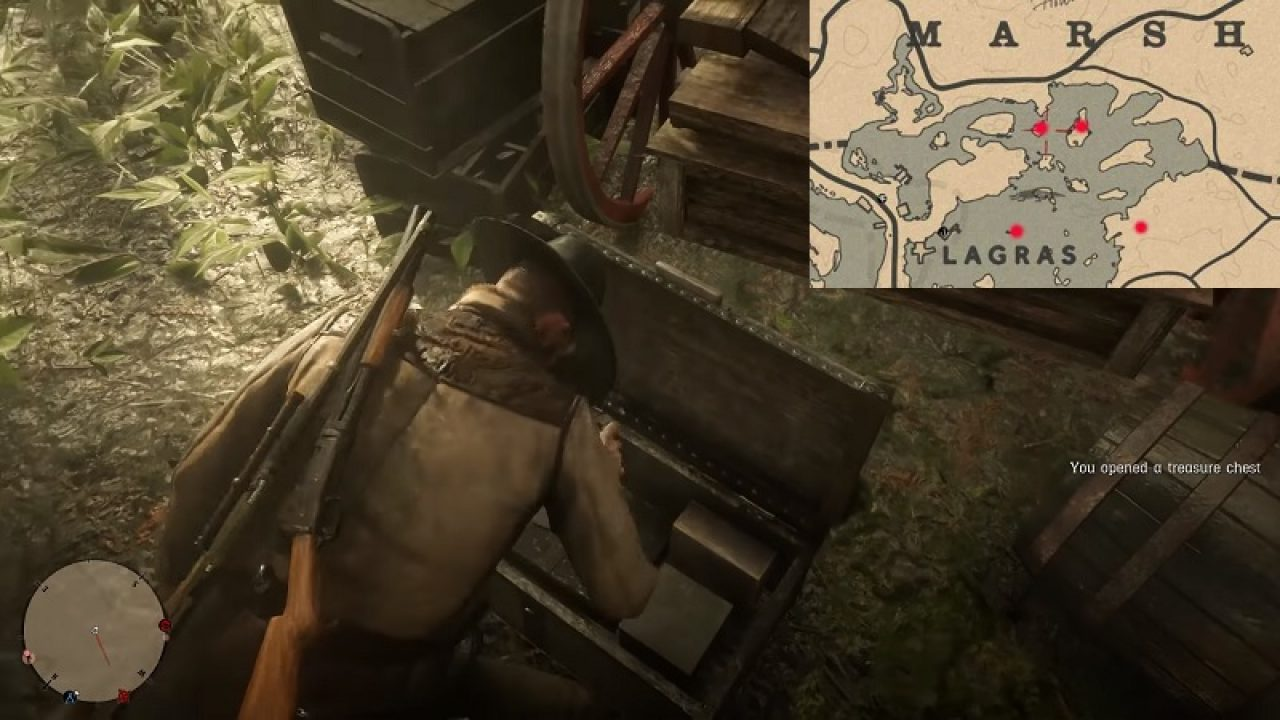 Red Dead Online Bluewater Marsh Treasure Location [Map Guide]