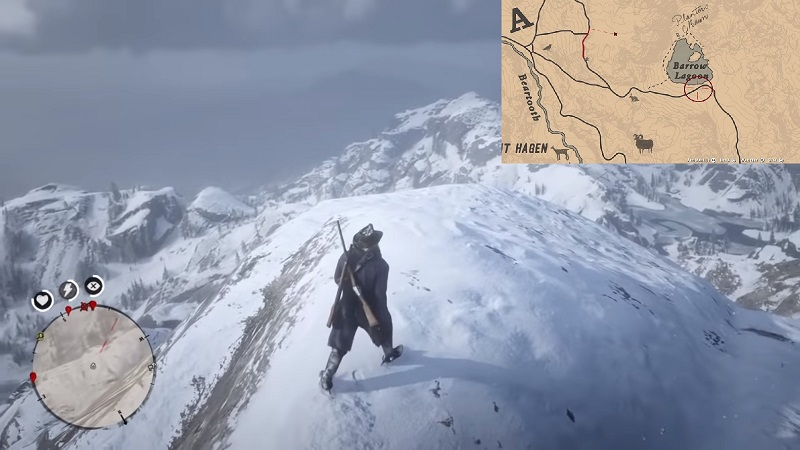 RDR2 Restricted Snowy Mountain
