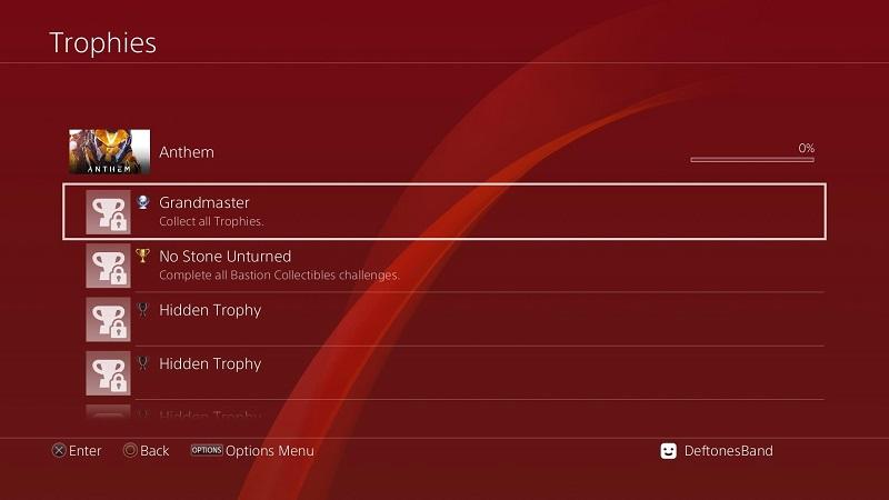 anthem achievement trophy unlock