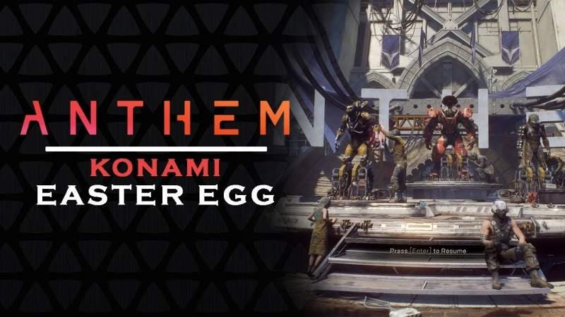 anthem easter egg konami code unlock