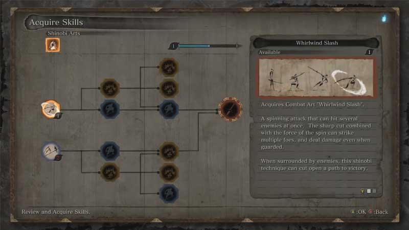 sekiro skills to unlock first