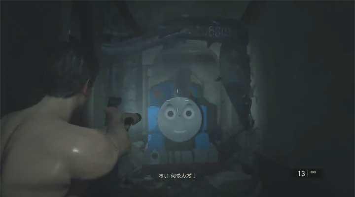 thomas the tank engine resident evil 2