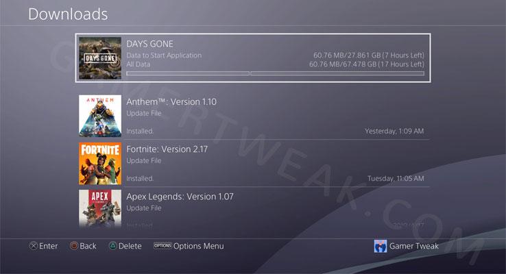 Days Gone Preload Time & Download Size