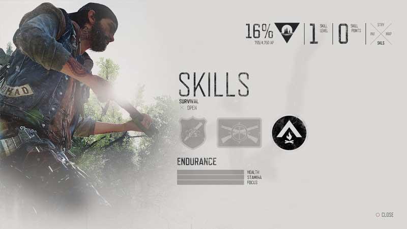 Days Gone All Survival Skills Tree Details