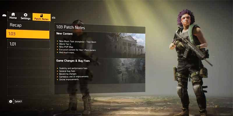 Division 2 New Patch