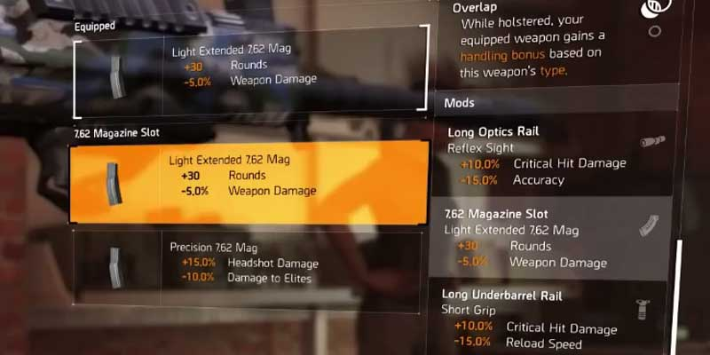 How To Get 7 62 Extended Magazine Mod - Division 2