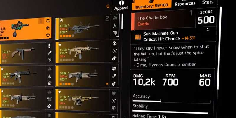 Division 2 How To Upgrade Exotic Gun