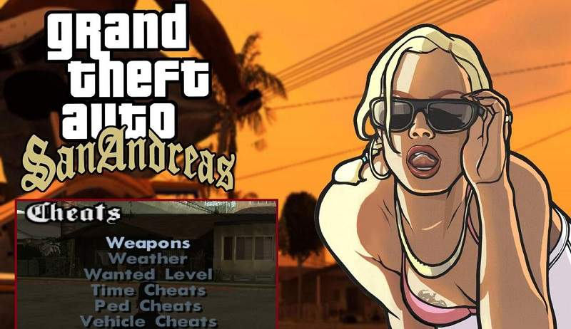 GTA San Andreas Cheats - Unlimited Health, Money, Weapon Codes