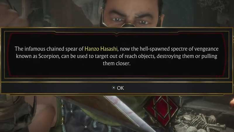 MK 11 Hanzo Hasashi Chained Spear Location