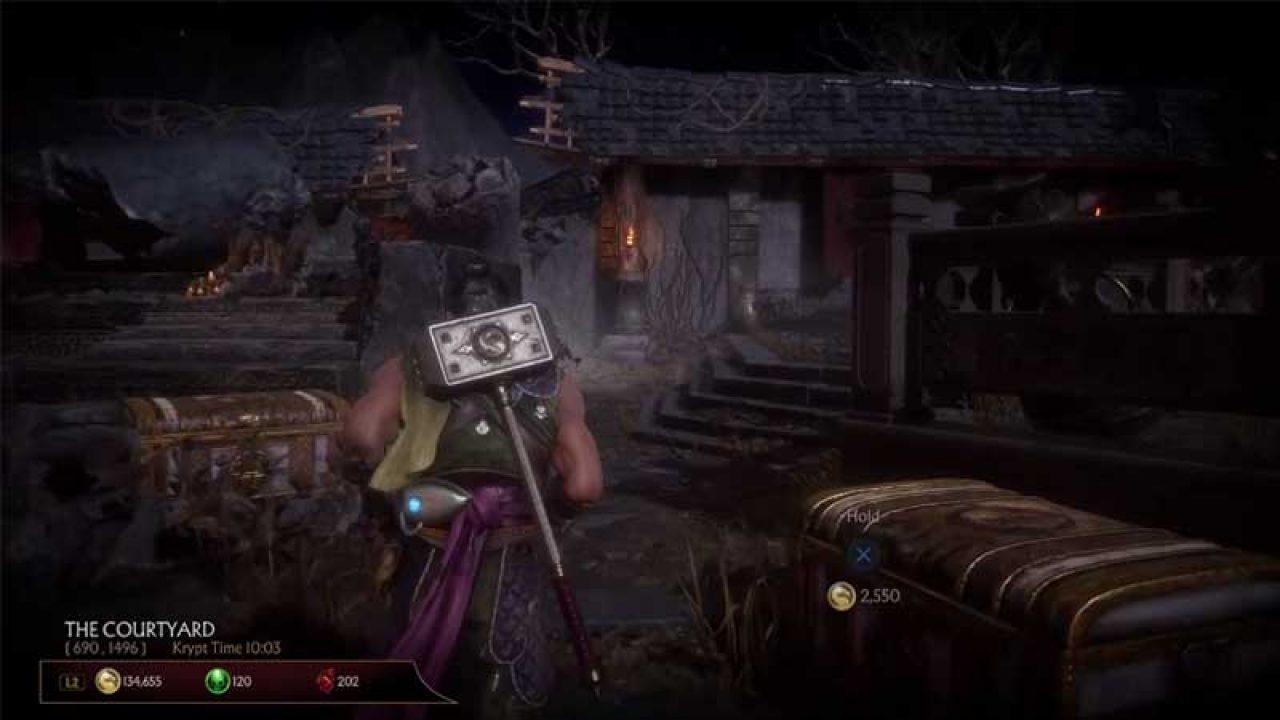 Mortal Kombat 11 Krypt Chest Location Koin Soul Fragment Heart