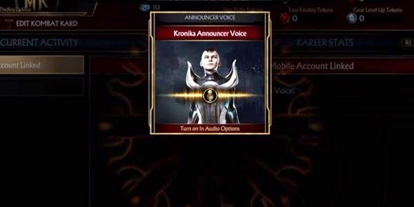 Unlock Kronika Announcer Voice MK11