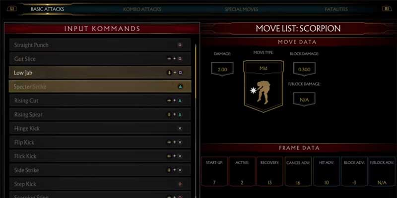 How To Change Character Moves Mortal Kombat 11
