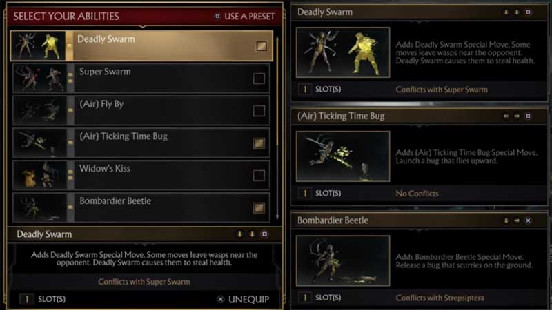 How To Change or Equip Abilities In Mortal Kombat 11