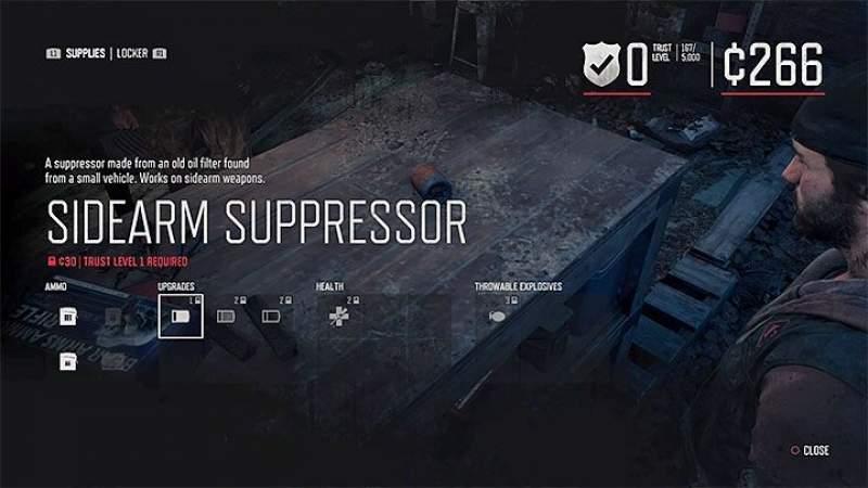 unlock weapon supressor days gone
