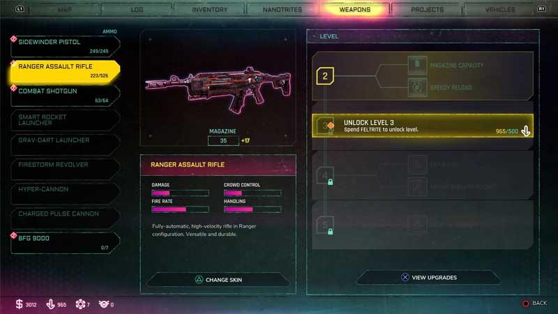 Ranger Assault Rifle Upgrades