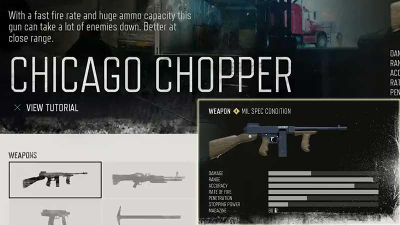 Days Gone Weapon List - Machine Guns
