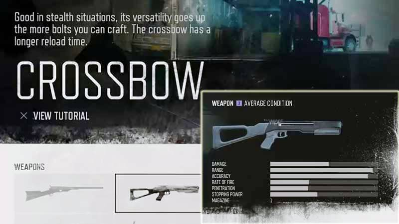 Days Gone Weapon List - Crossbow