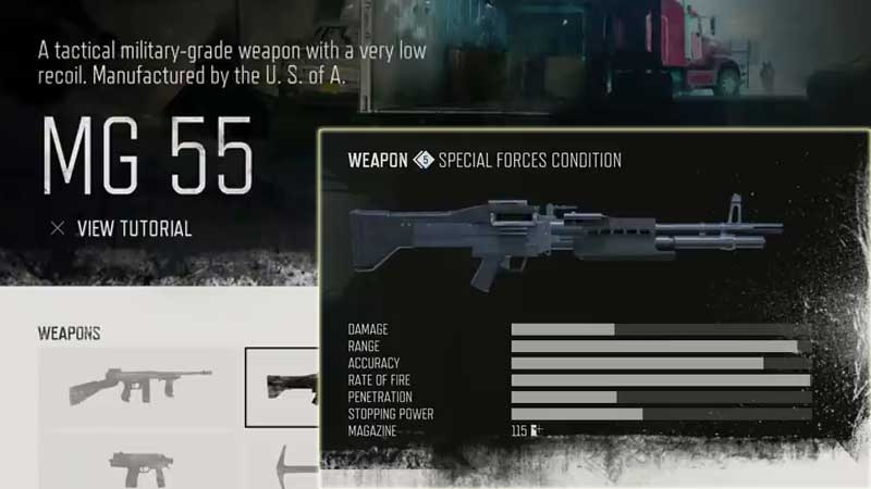 Days Gone Weapon List - LMG