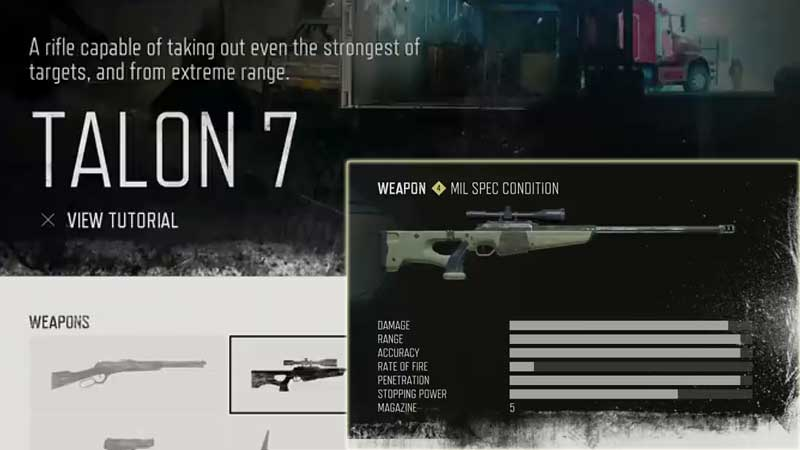 Days Gone Weapon List - Sniper