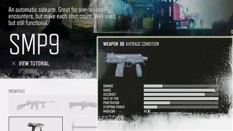 Days Gone Weapon List - SMG