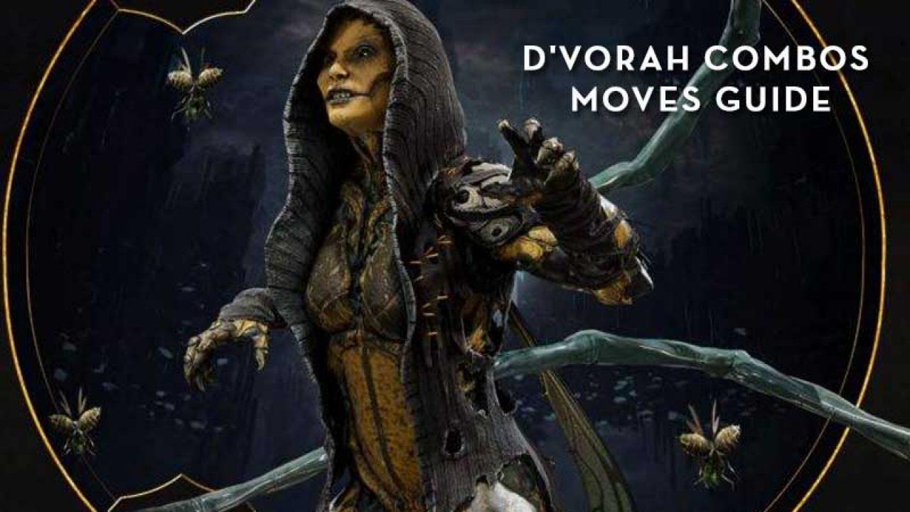 D Vorah Combos Guide List Mortal Kombat 11 Moves Tutorial