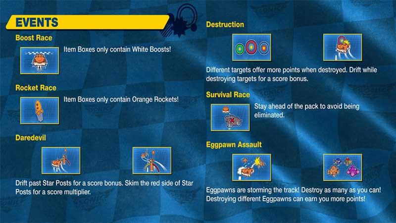 Racing Events In Team Sonic Racing