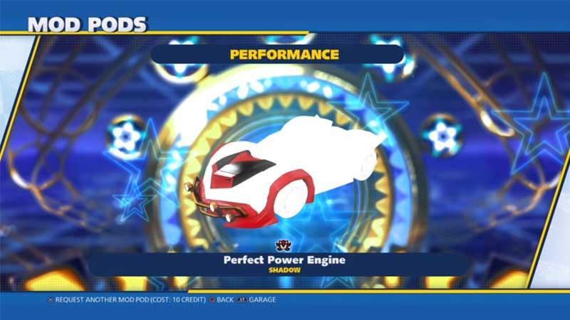 Unlock New Vehicle Mods In Team Sonic Racing