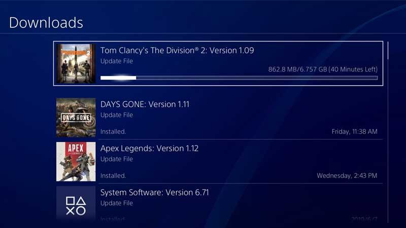 Division 2 Update 1.09 Screenshot