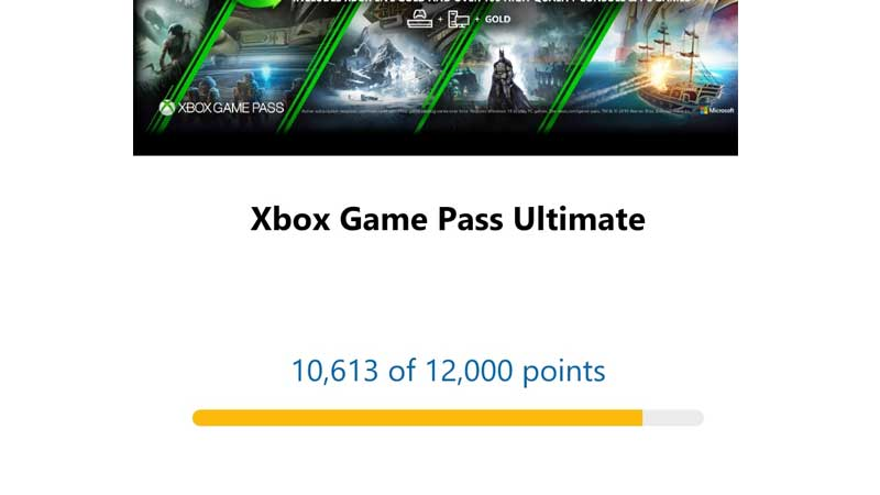 Xbox Gamepass Ultimate Available On Microsoft Rewards