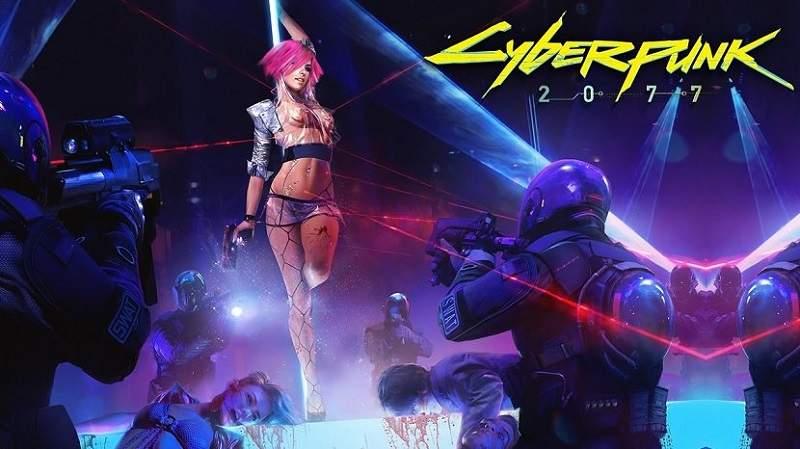 cyberpunk 2077 three staring characters