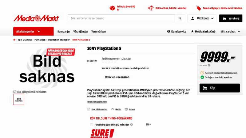 Sony PS5 Price Leaked