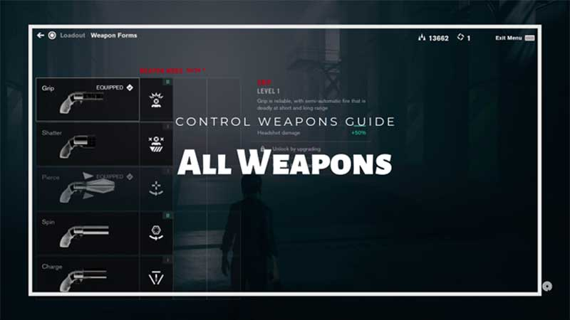 Control Weapons Guide