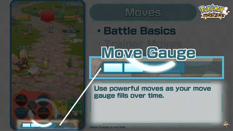 Pokemon Master Refill Move Gauge