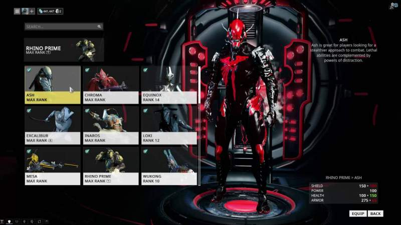 warframe sell inventory items