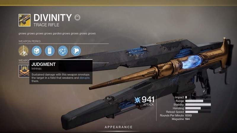 Divinity Exotic Trace Rifle location in Destiny 2
