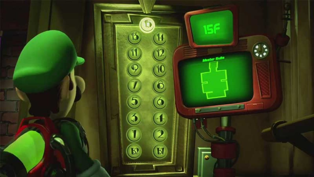 Image result for luigi's mansion 3 elevator buttons