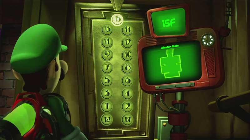 Luigi's Mansion 3 All Elevator Button Location