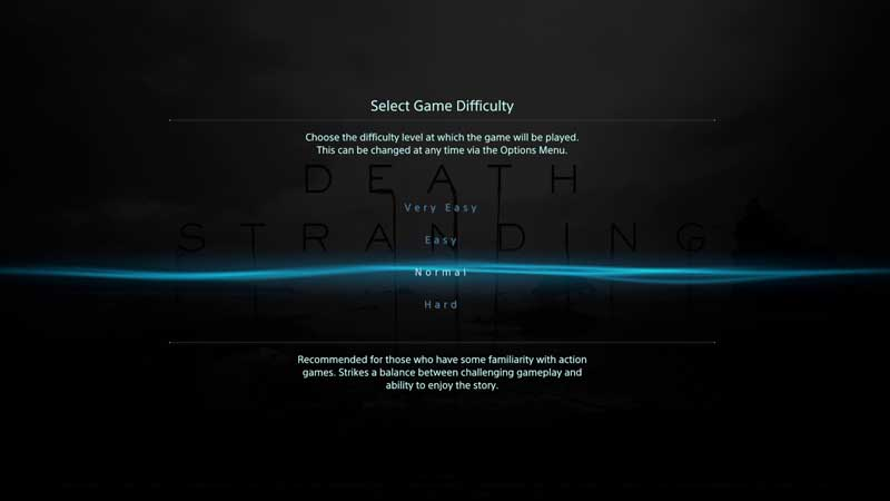 Death Stranding Change Difficulty