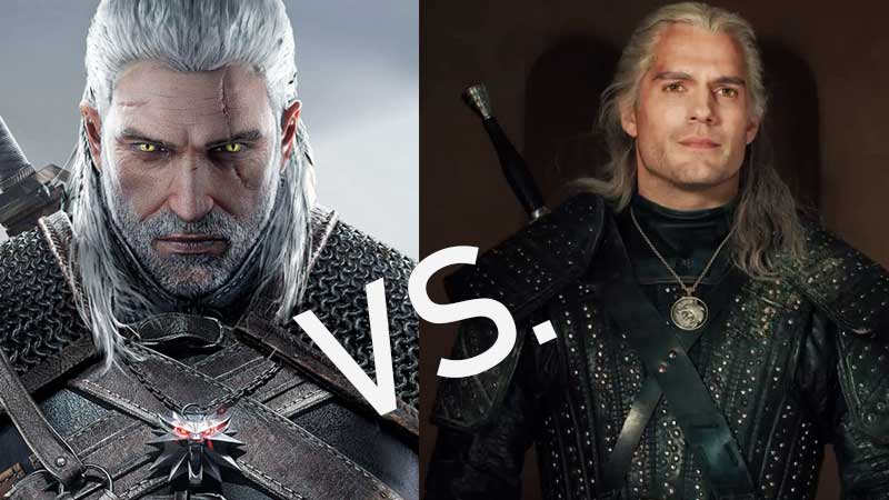 Witcher Game vs Witcher Netflix