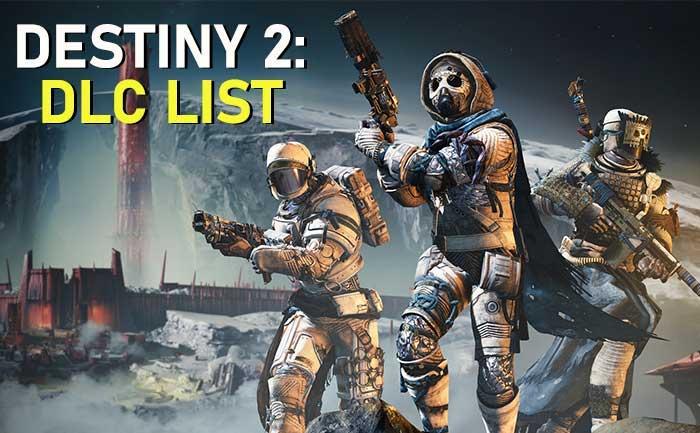 Destiny 2 DLC Expansions 2020