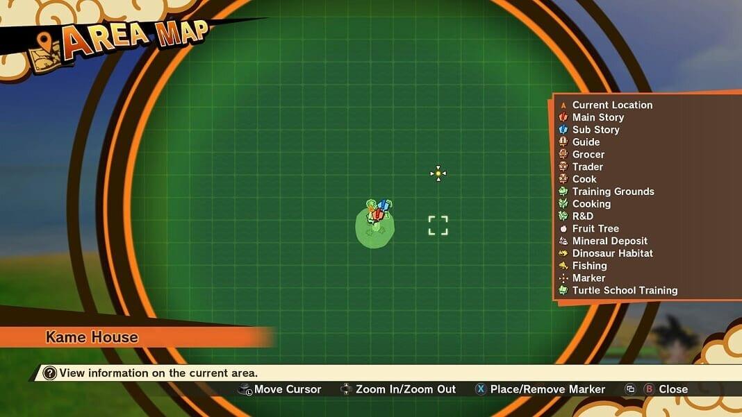 Dragon Ball Z Kakarot Open Map