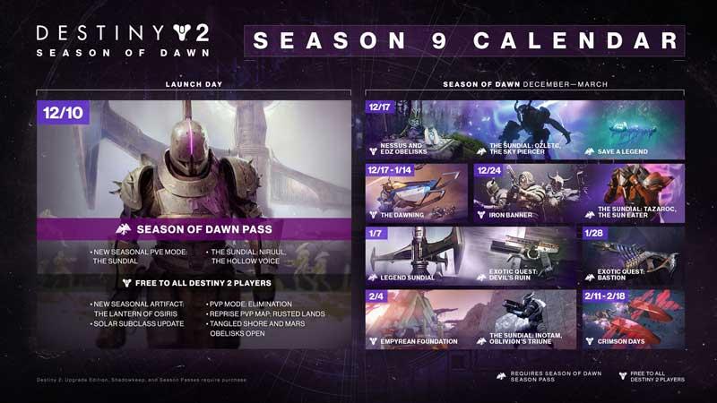 Destiny 2 Season 9 Rewards