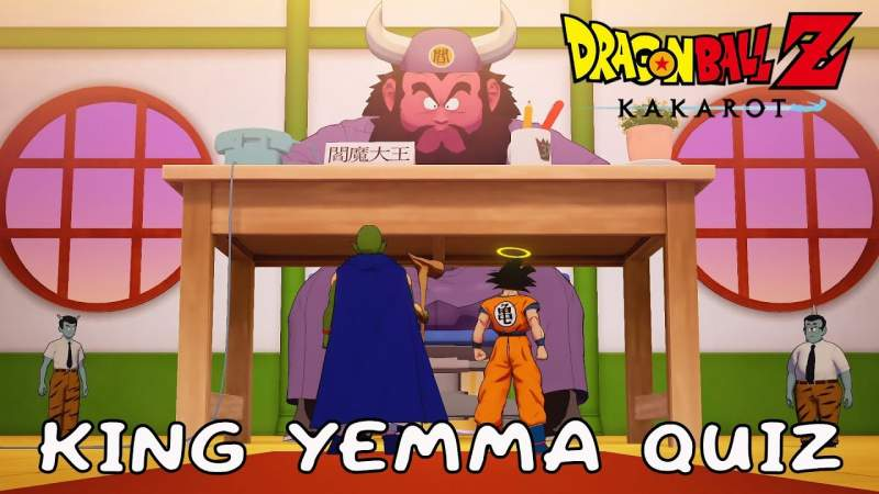 king yemma quiz answers dragon ball z kakarot