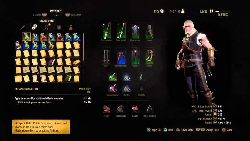 How To Reset Skills In The Witcher 3