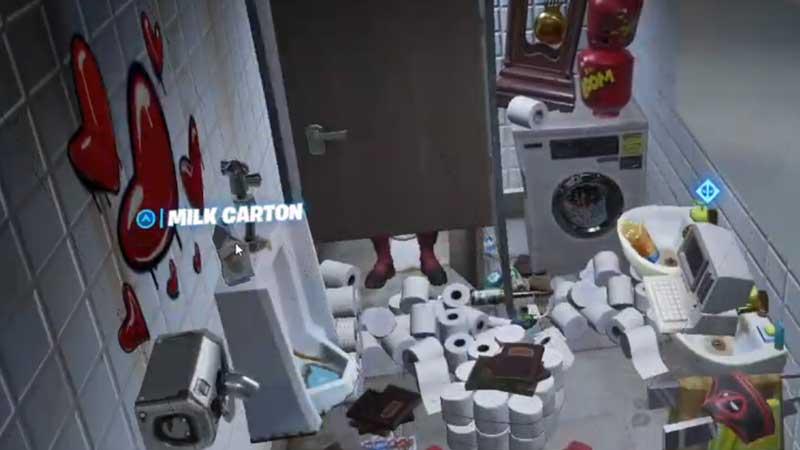 Fortnite Chapter 2 Deadpool Challenge Milk Carton