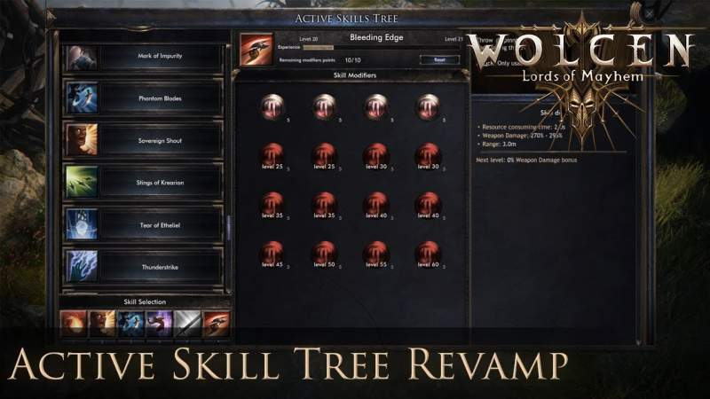 Active Skills List of Wolcen