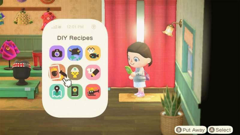 Animal Crossing New Horizons new DIY Recipes